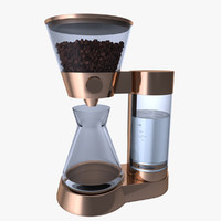 3d model concept coffee machine maker