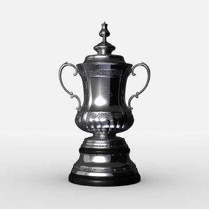 3d fa cup trophy