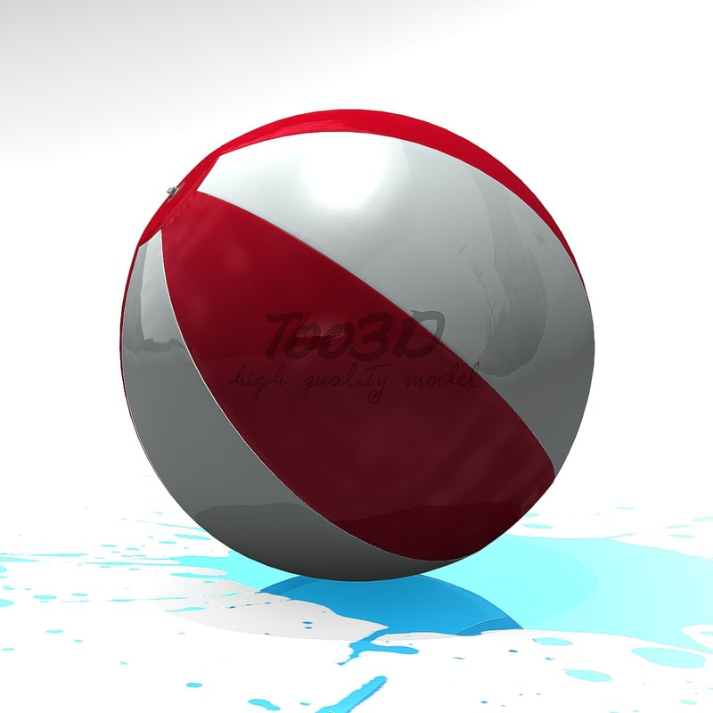 3d model of beach ball