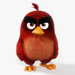3d realistic red angry birds model