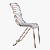 chair michel dufet metal chrome 3d obj