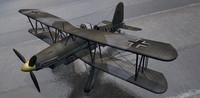 fieseler fi-167 pavla bomber 3d model