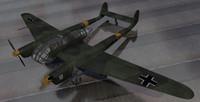fw-189a-1 bomber 3d model