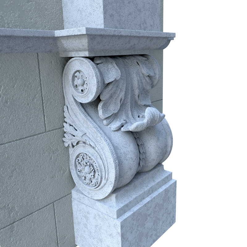 3d model architectural element classical