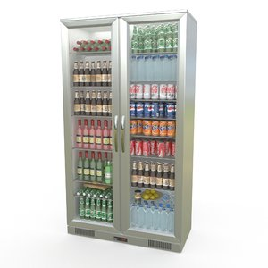 commercial fridge 3d dwg
