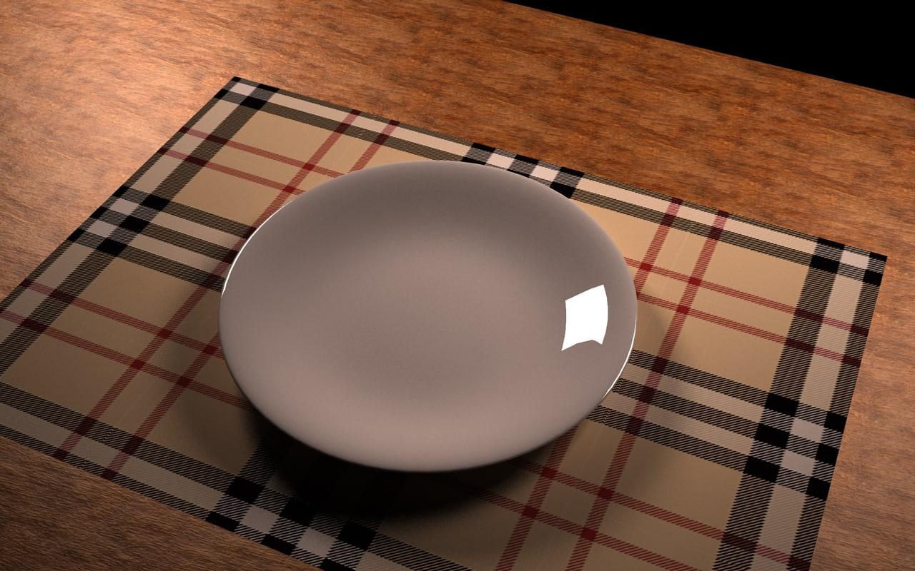 3d dish cutlery