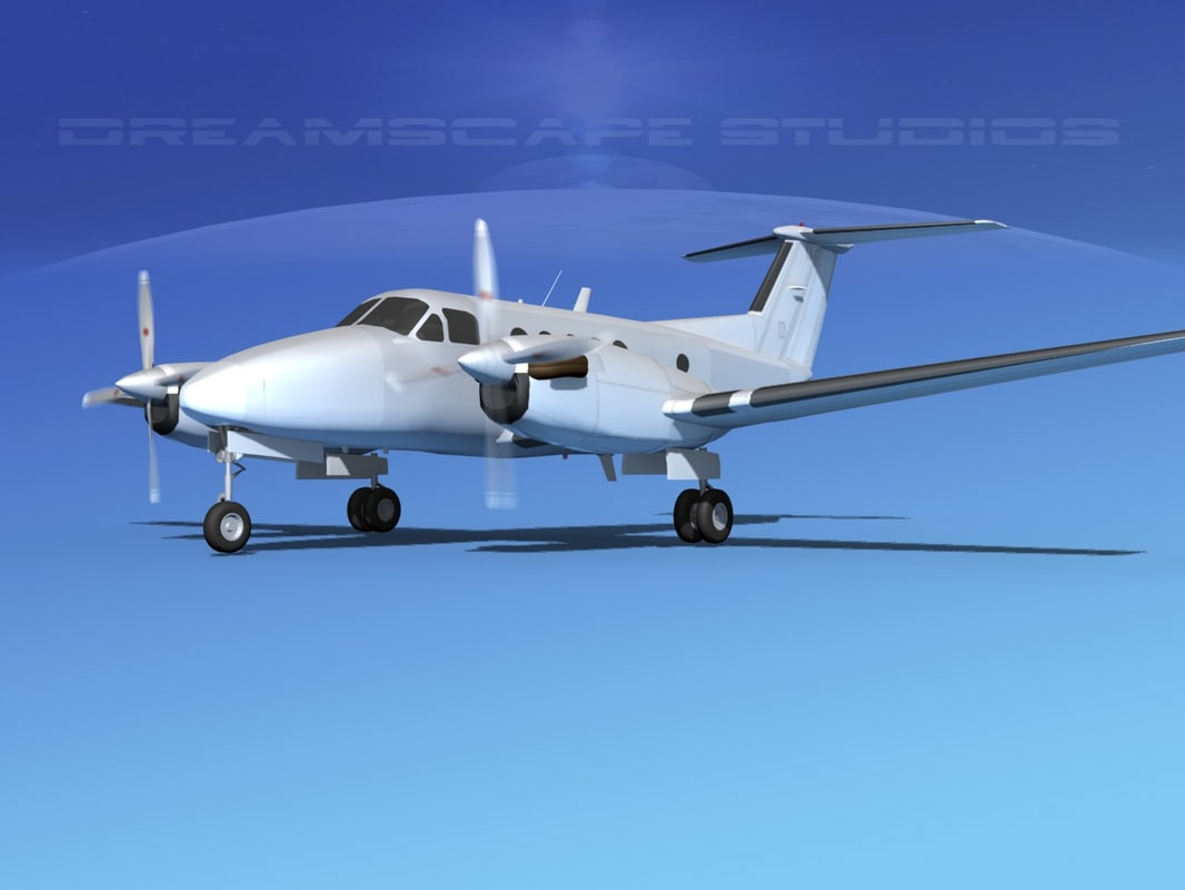 3d model propellers beechcraft king air