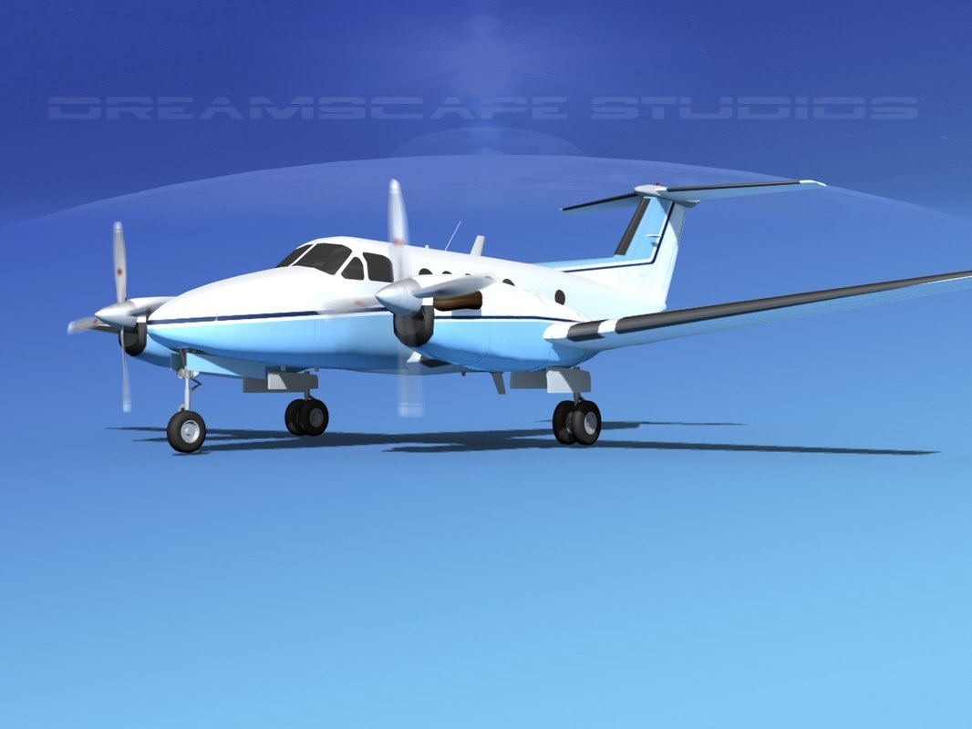 propellers beechcraft king air 3ds