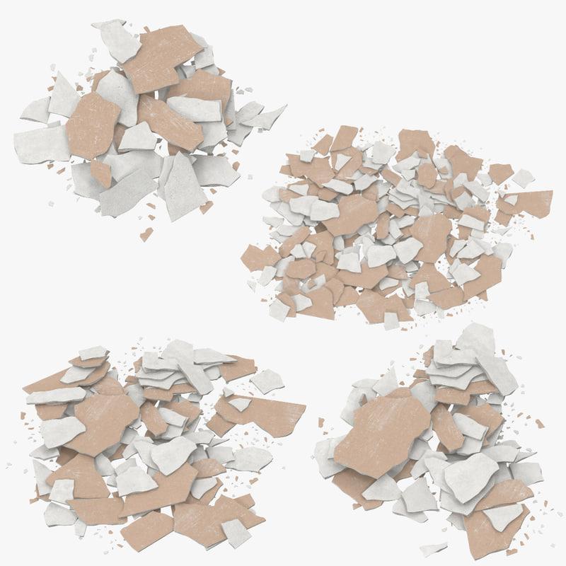 3d c4d sheetrock materials