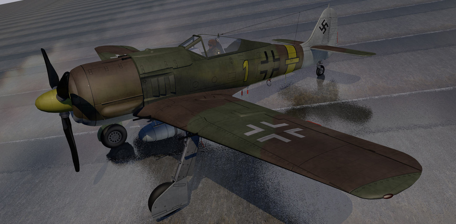 3d german fighter aircraft model