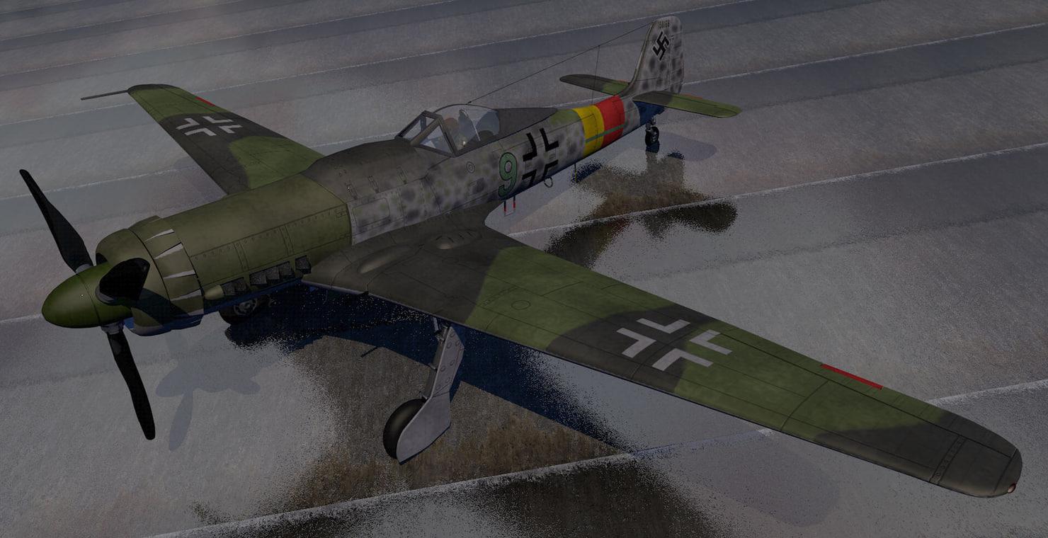 3d german fighter aircraft