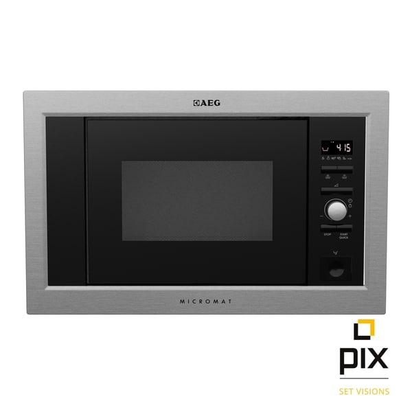 photorealistic aeg microwave oven 3d model