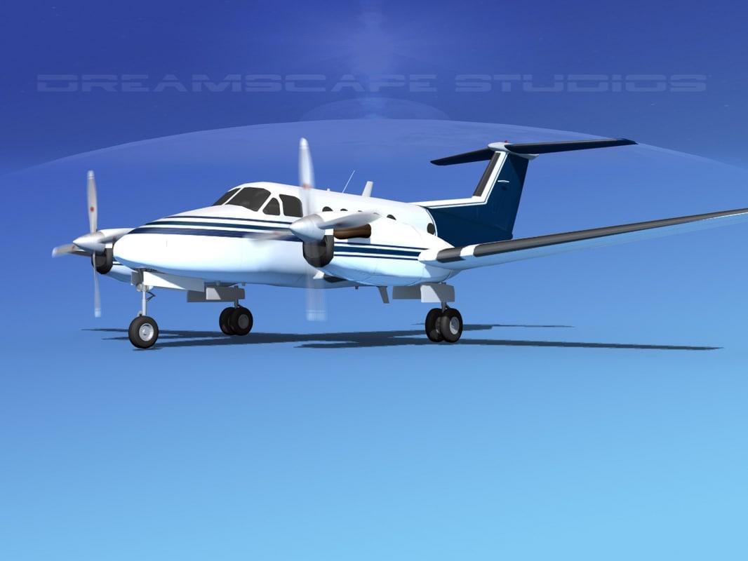 propellers beechcraft king air dxf