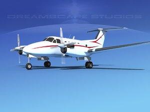propellers beechcraft king air obj