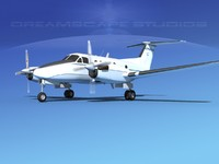 propellers beechcraft king air dxf