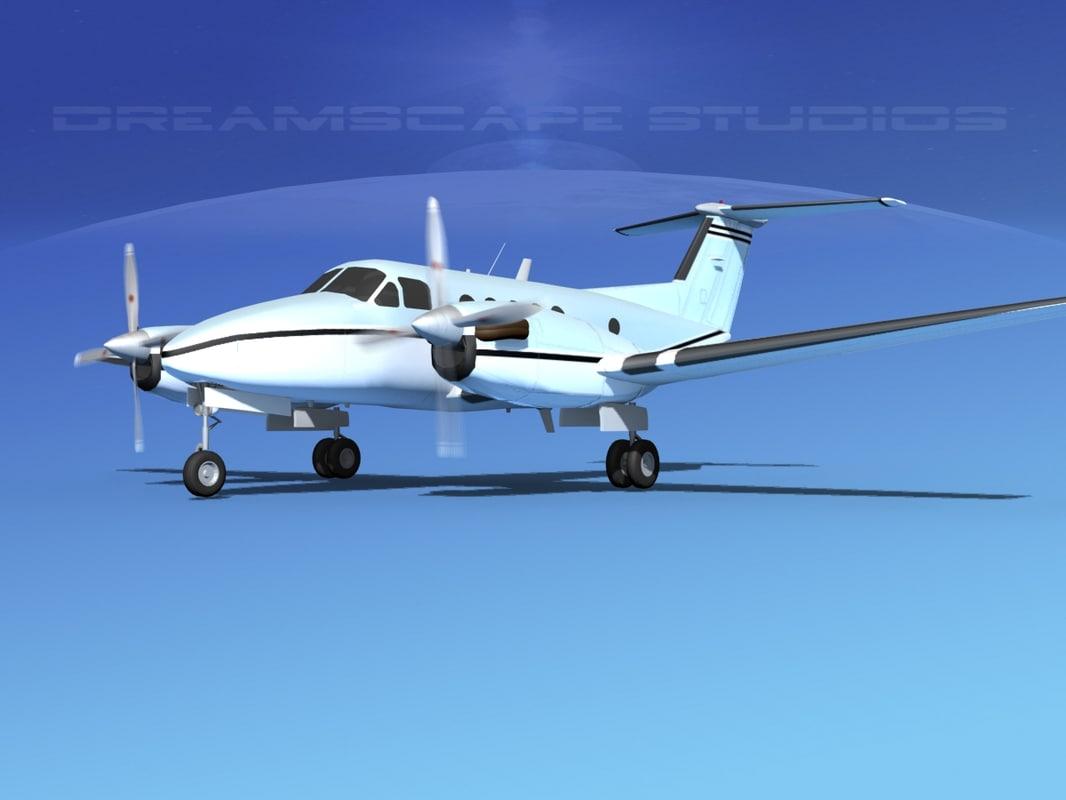 lwo propellers beechcraft king air