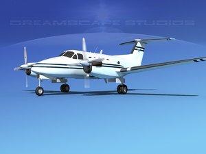 propellers beechcraft king air 3d model