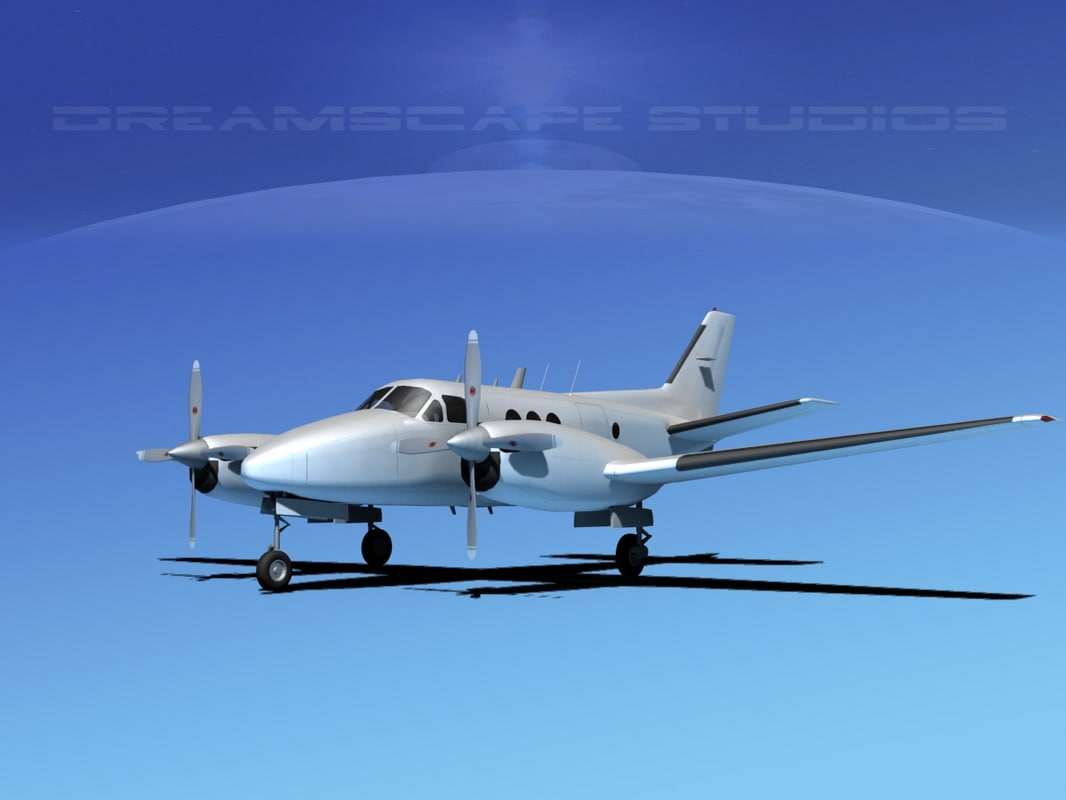 3d beechcraft e-90 king air model