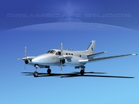 3d beechcraft e-90 king air model