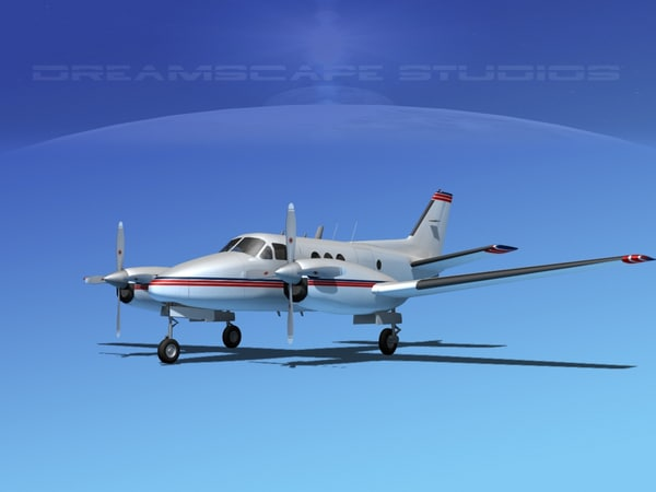 beechcraft e-90 king air 3ds