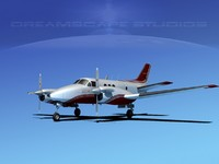 beechcraft e-90 king air 3d dwg