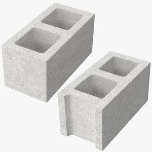 3d model cinder blocks