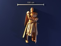 3d model knight mold gypsum
