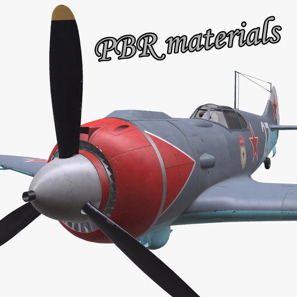 3d aircraft pbr 5 la-5 model