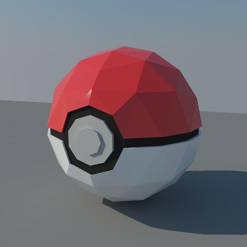 pokemon ball obj