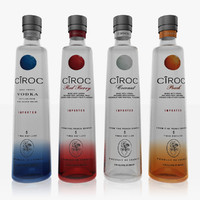 3d model ciroc vodka set
