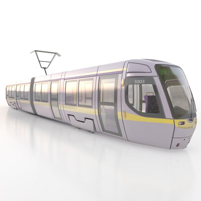 3d model tram modelled