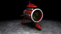 rocket bike 3d model
