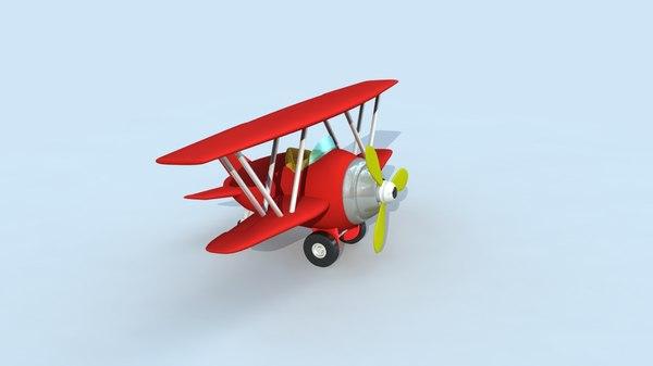 plane cartoon 3d x