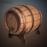3d model wine barrel bars