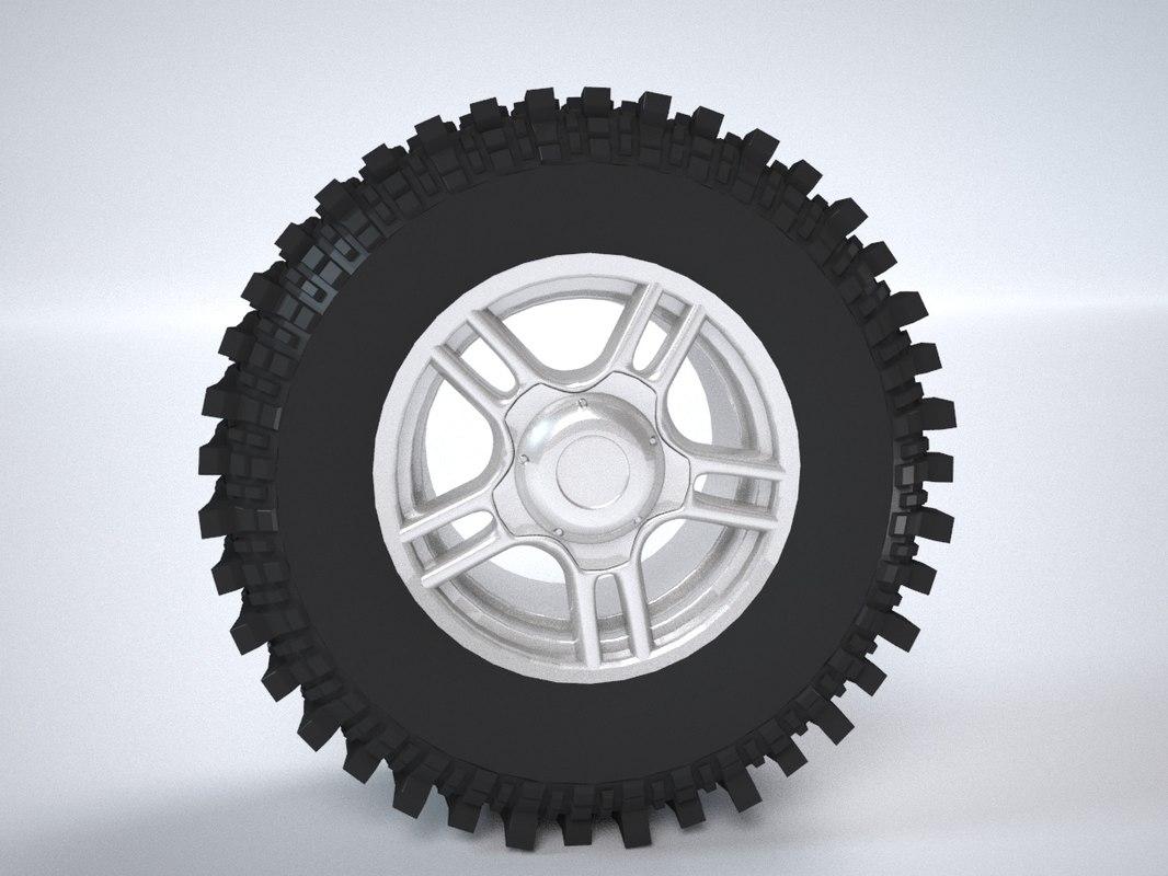 3d model wheels uaz tires xt