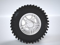 3d model wheels uaz tires xt