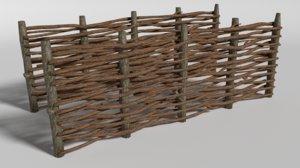 medieval fence 3d obj