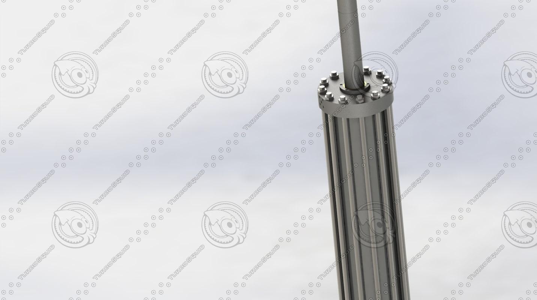 hydraulic cylinder obj
