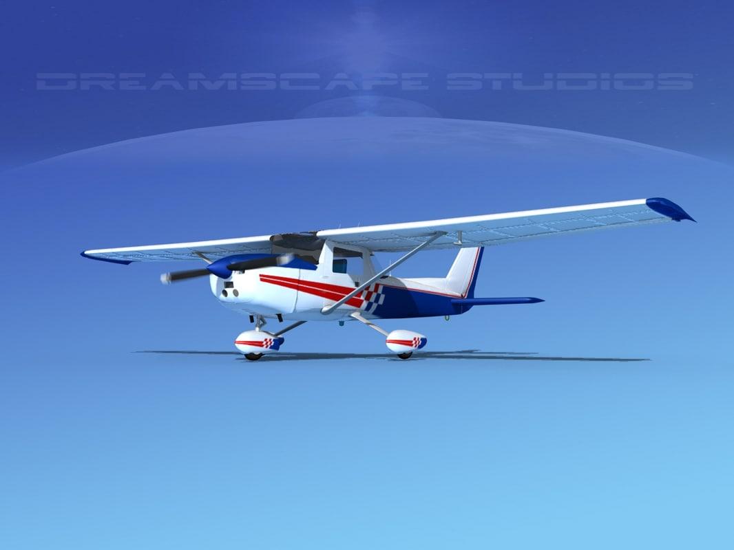 3d 3ds cessna 150 aerobat
