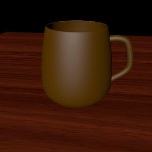 3d beer coffee cup