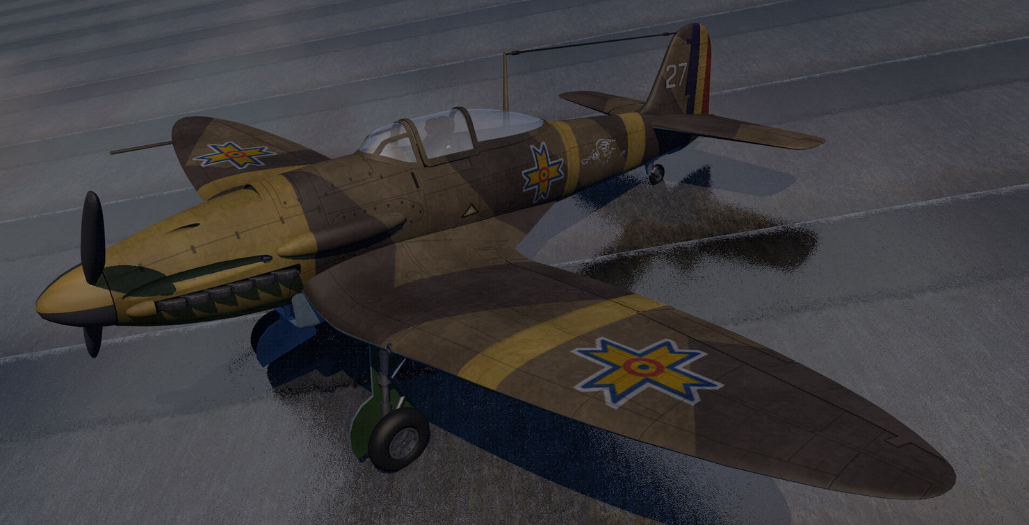 3d model heinkel he-112b fighter aircraft