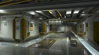 Futuristic Sci-Fi Lowpoly Interior