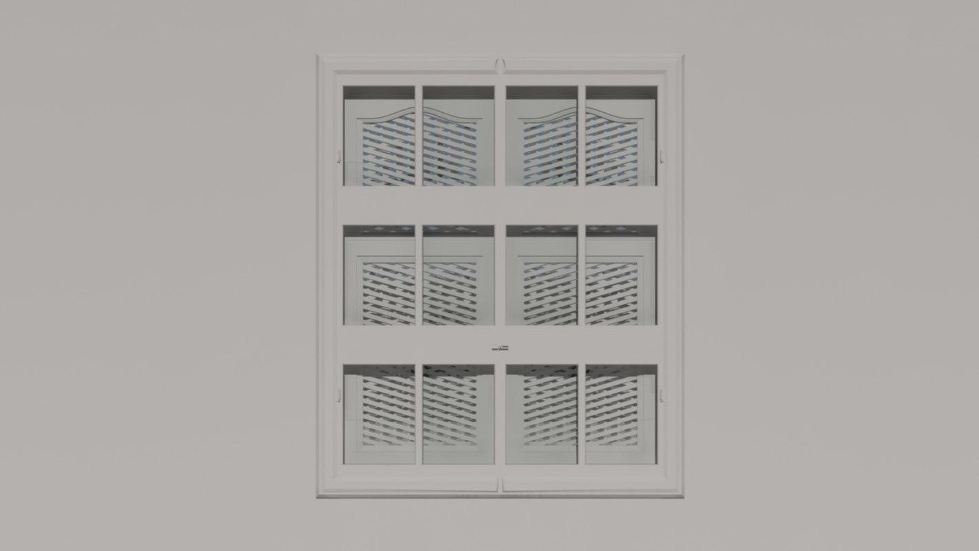 free window arabic 3d model