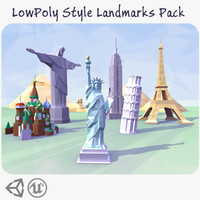 LowPoly Style Landmarks Pack