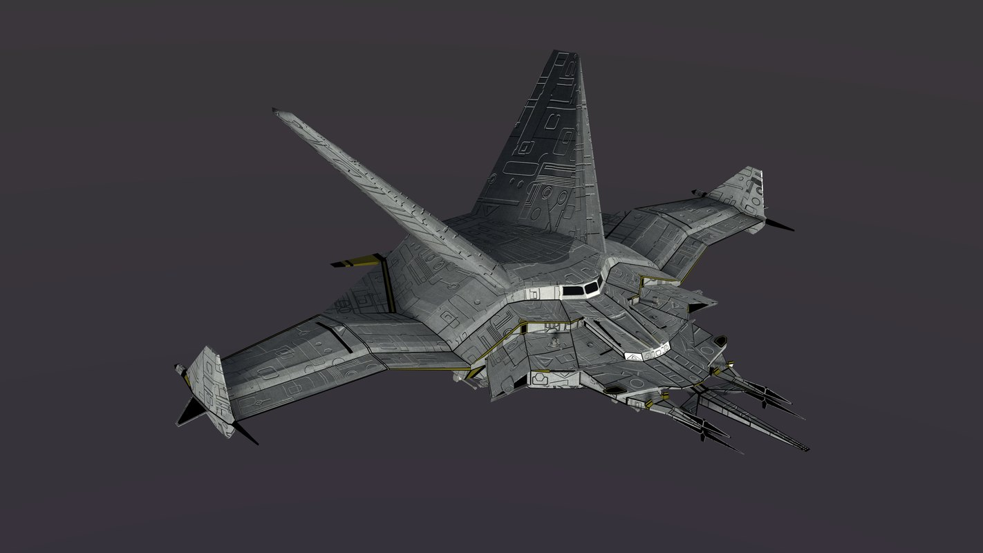 srg500 space fighter 3d model