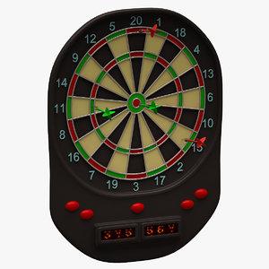 3d model of dartboard arrows