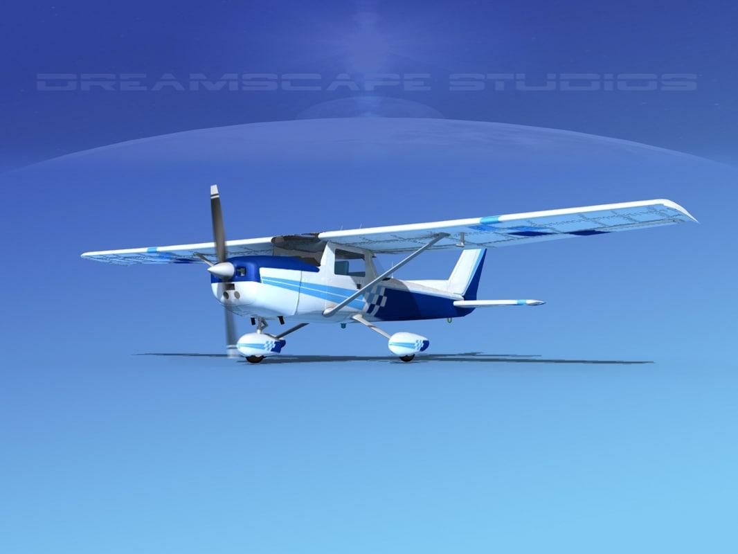 3d model cessna 152 aerobat