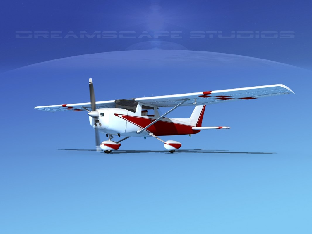 cessna 152 aerobat 3d model