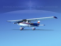 3d model cessna c150 commuter