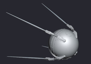 sputnik satellite fbx